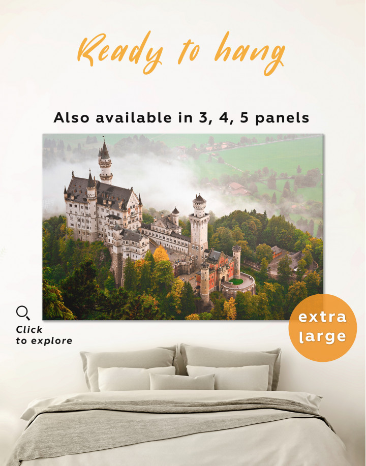 Neuschwanstein Castle Canvas Wall Art