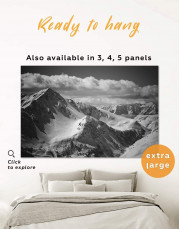 Black and White Mountains Canvas Wall Art