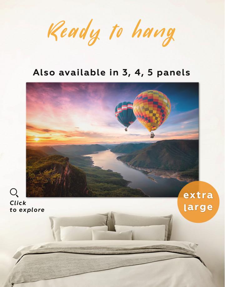 Hot Air Balloons Landscape Canvas Wall Art