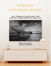 Sunset Airplane Airport Canvas Wall Art - Image 2