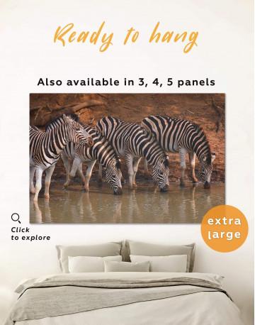Wild Zebras Canvas Wall Art