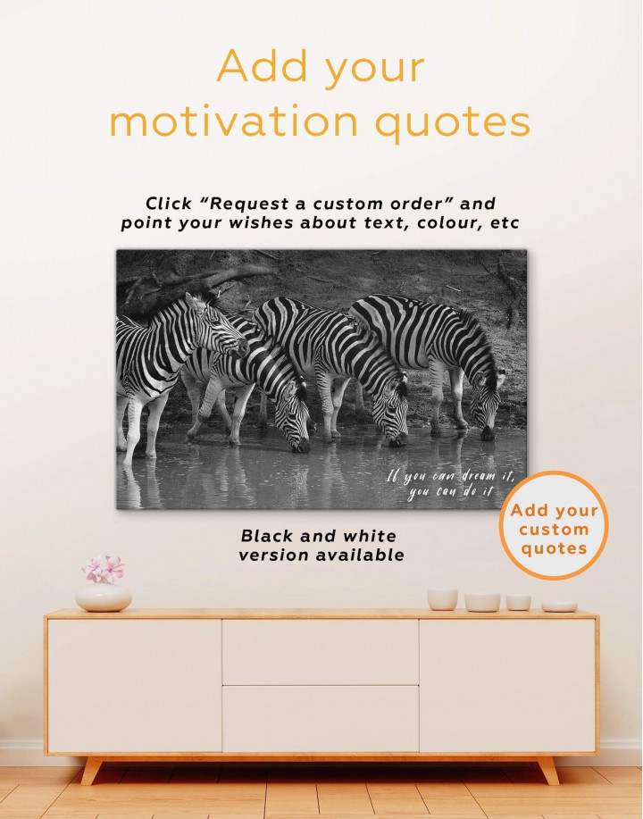 Wild Zebras Canvas Wall Art - Image 1
