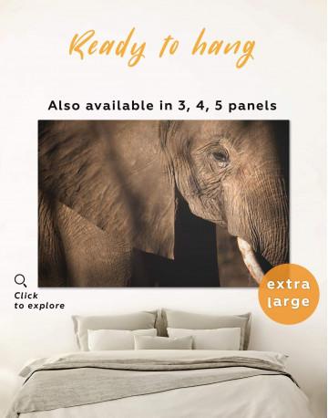 Wild Elephant Canvas Wall Art