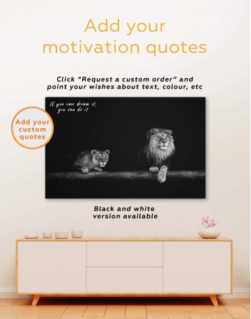 Lions Family Canvas Wall Art - image 1
