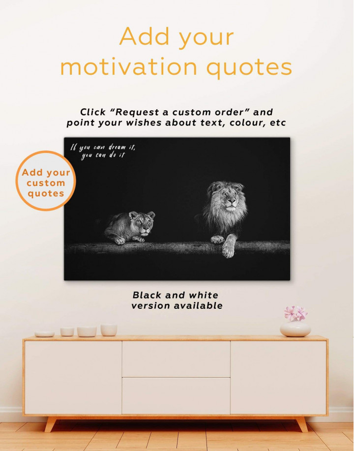Lions Family Canvas Wall Art - Image 2