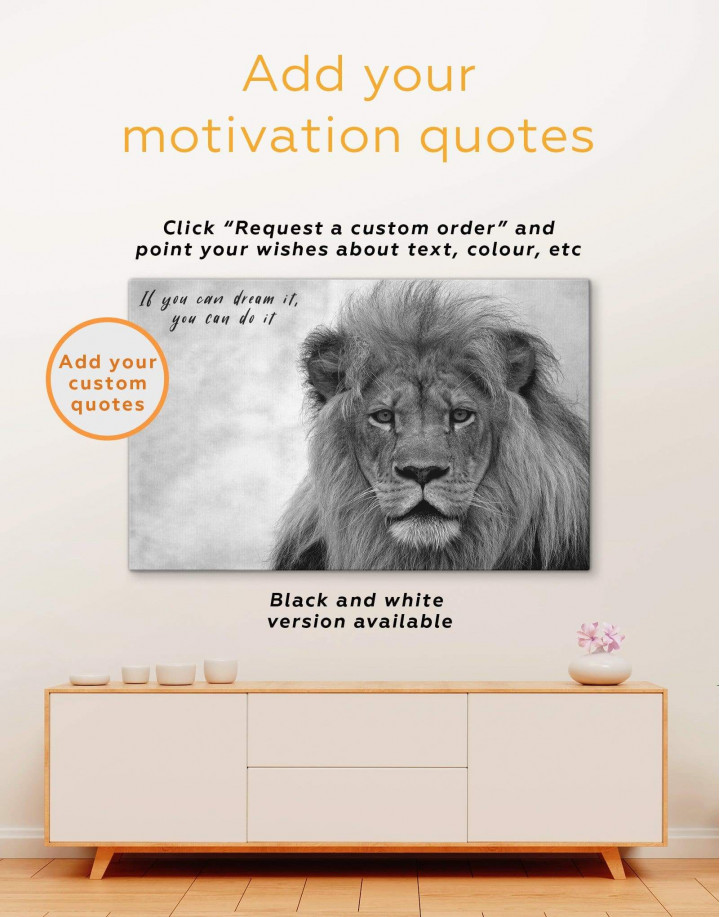 King of Jungle Lion Canvas Wall Art - Image 2
