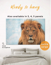 King of Jungle Lion Canvas Wall Art - Image 0