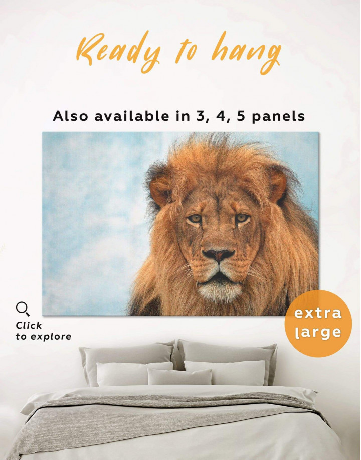 King of Jungle Lion Canvas Wall Art
