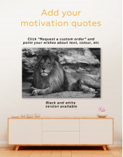 Wild Lion Canvas Wall Art - Image 2