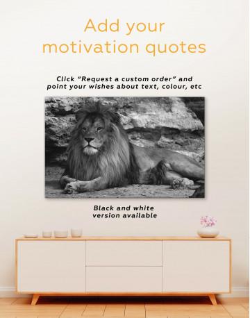 Wild Lion Canvas Wall Art - image 2