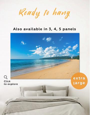Ocean Beach Landscape View Canvas Wall Art