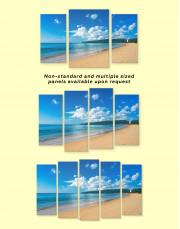 Ocean Beach Landscape View Canvas Wall Art - Image 3