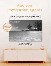 Sunny Tropical Beach Canvas Wall Art - Image 3