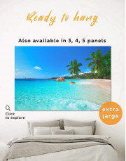 Sunny Tropical Beach Canvas Wall Art - Image 0