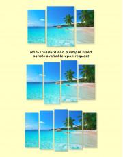 Sunny Tropical Beach Canvas Wall Art - Image 1