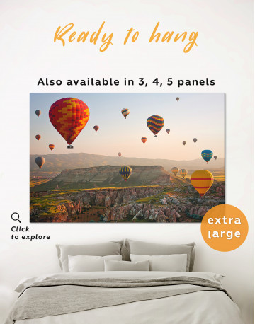Hot Air Balloon Cappadocia Landscape Canvas Wall Art