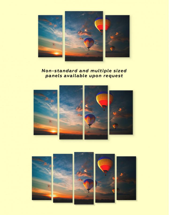 Flying Hot Air Balloons Canvas Wall Art - Image 2