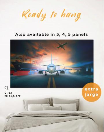 Aircraft Airport Canvas Wall Art