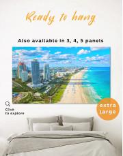 Miami Beach Skyline Canvas Wall Art