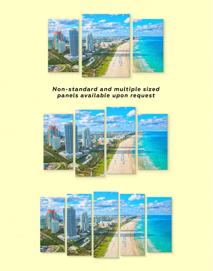 Miami Beach Skyline Canvas Wall Art - Image 1