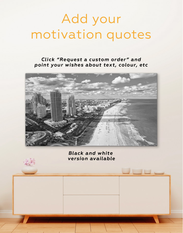 Miami Beach Skyline Canvas Wall Art - Image 3