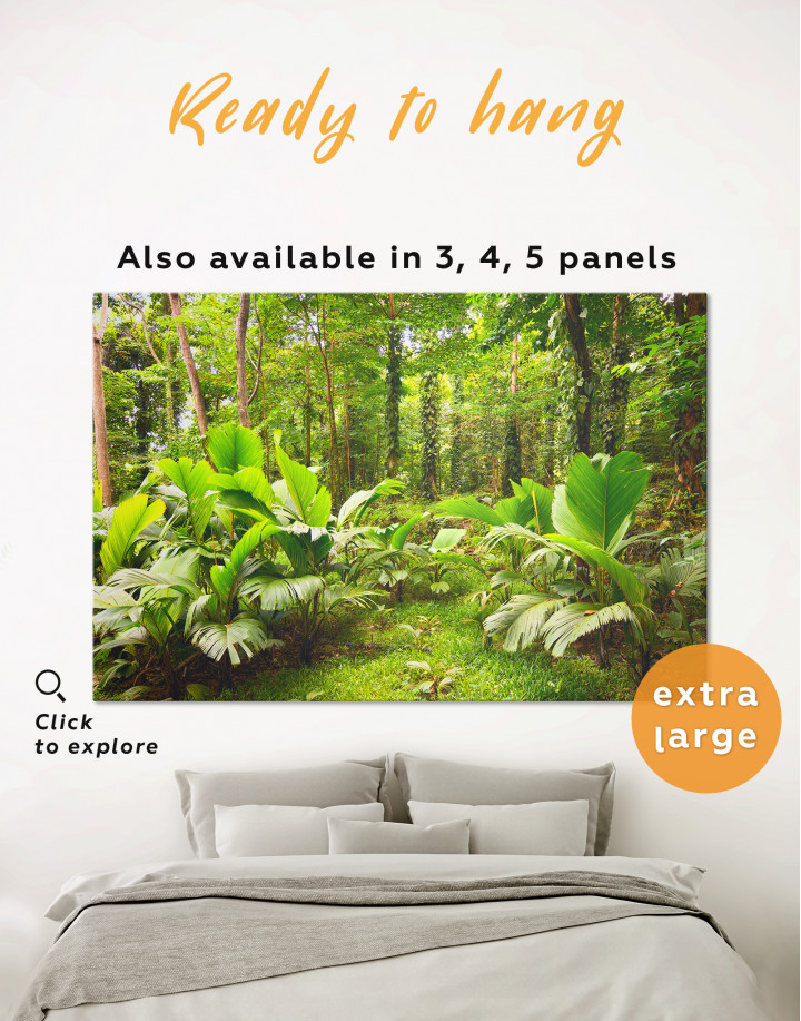 Tropical Forest Canvas Wall Art