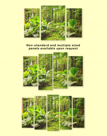 Tropical Forest Canvas Wall Art - image 1