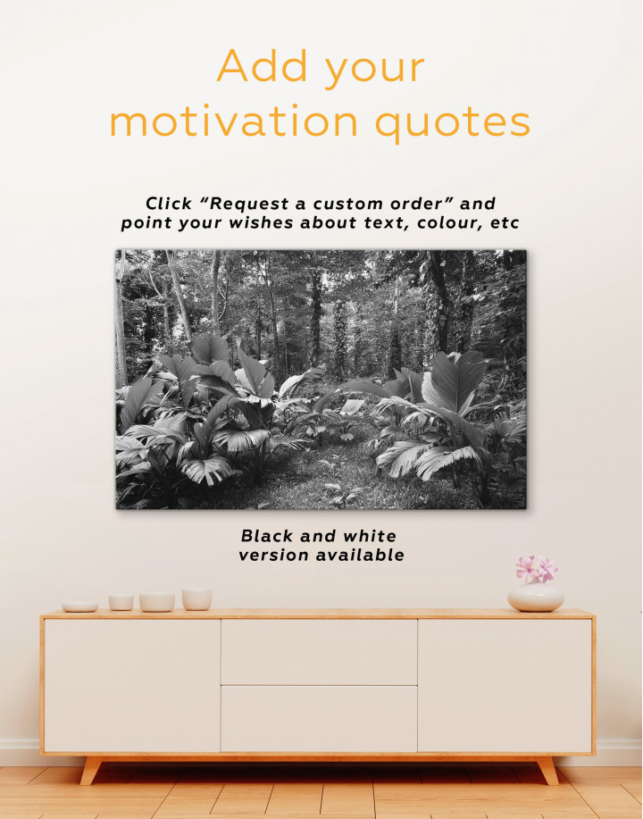 Tropical Forest Canvas Wall Art - Image 3