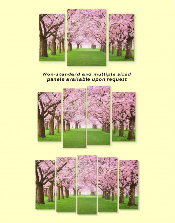 Cherry Blossom Forest Canvas Wall Art - image 2