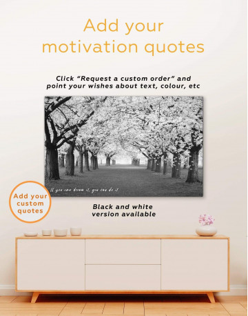 Cherry Blossom Forest Canvas Wall Art - image 1