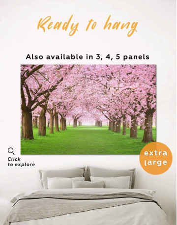 Cherry Blossom Forest Canvas Wall Art