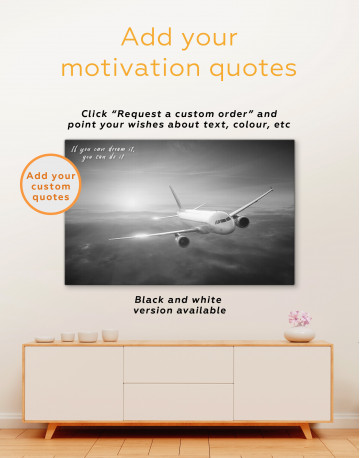 Flying Airplane Canvas Wall Art - image 3