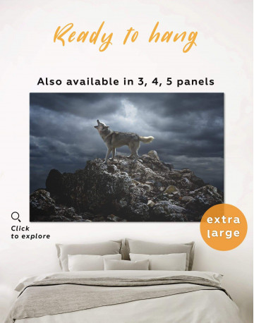 Lonely Wolf Canvas Wall Art
