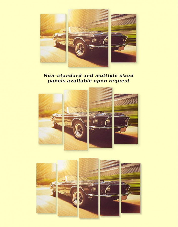 Retro Ford Mustang Canvas Wall Art - Image 2