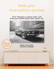 Retro Ford Mustang Canvas Wall Art - Image 3