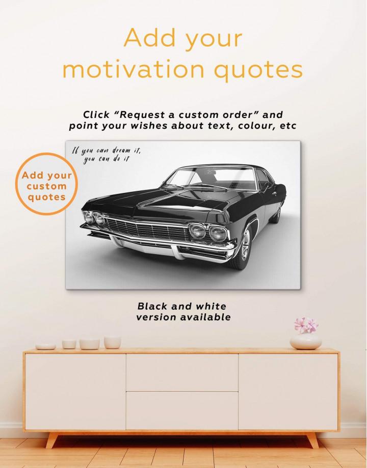 Chevrolet Impala 1965 Canvas Wall Art - Image 3