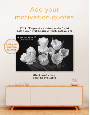 White Tulips Canvas Wall Art - Image 3