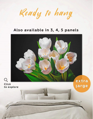 White Tulips Canvas Wall Art