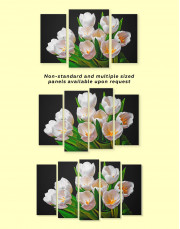 White Tulips Canvas Wall Art - Image 1
