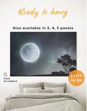 Full Moon View Canvas Wall Art