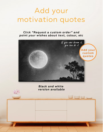 Full Moon View Canvas Wall Art - image 1