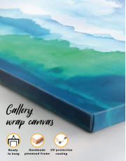 Watercolor Abstract Mountains Canvas Wall Art - Image 1