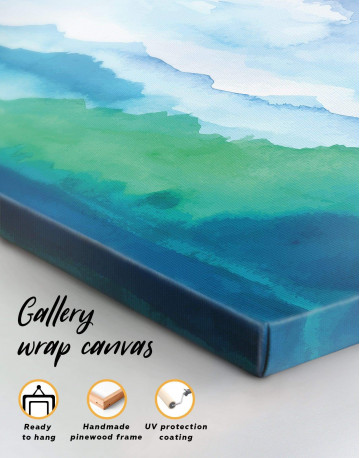 Watercolor Abstract Mountains Canvas Wall Art - image 3
