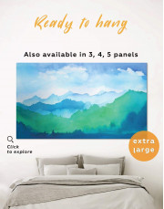 Watercolor Abstract Mountains Canvas Wall Art - Image 0
