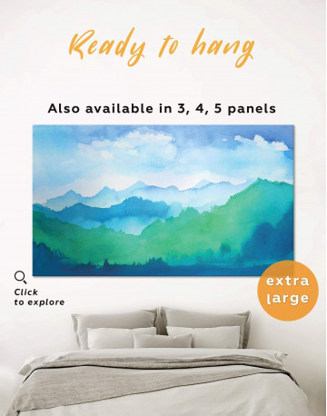 Watercolor Abstract Mountains Canvas Wall Art