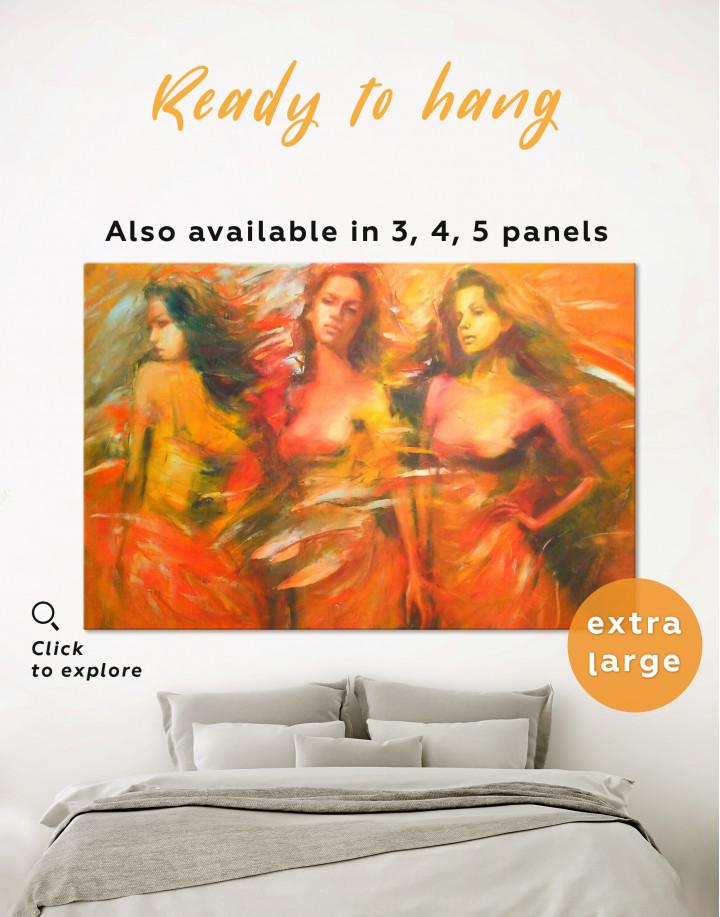 Sensual Female Figures Canvas Wall Art