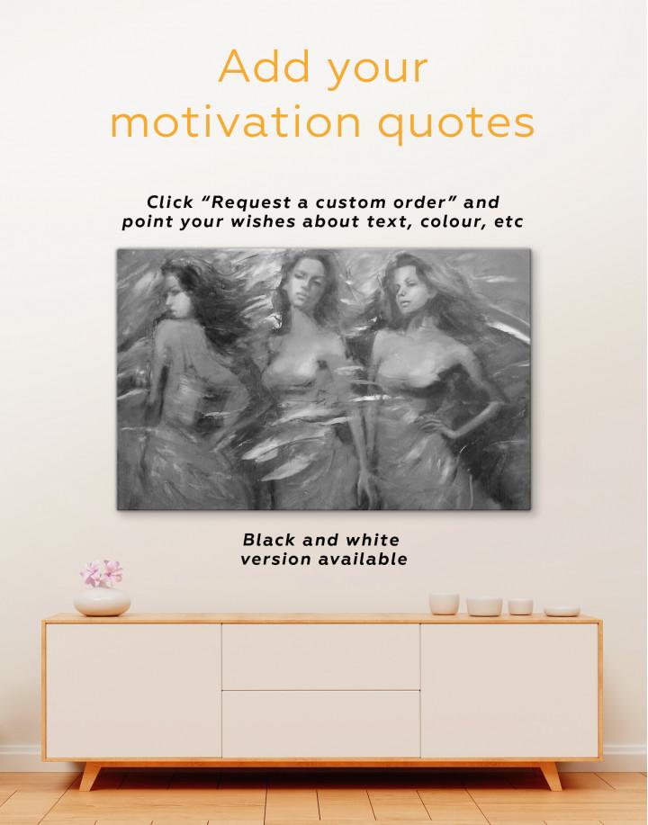 Sensual Female Figures Canvas Wall Art - Image 2