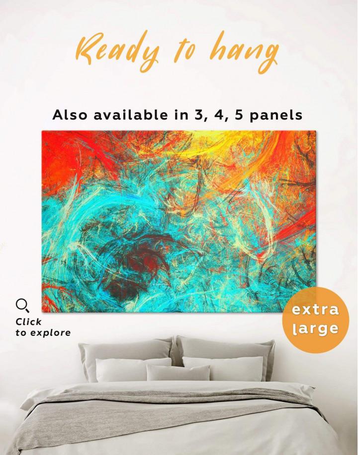 Modern Abstract Canvas Wall Art - Image 0