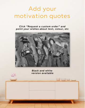 Abstract Modern People Painting Canvas Wall Art - image 3