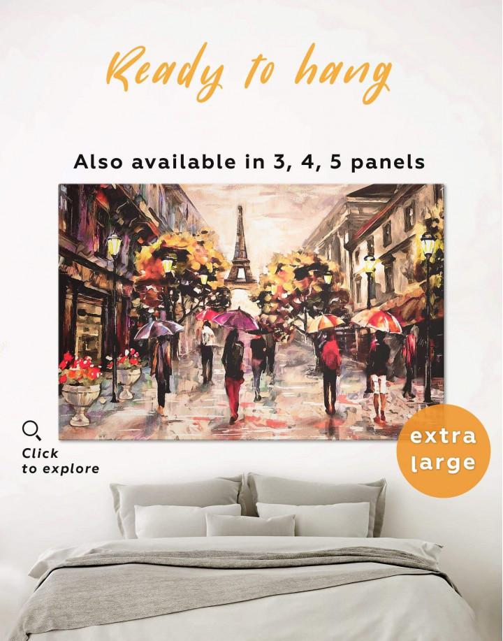 Romantic Paris Canvas Wall Art - Image 0